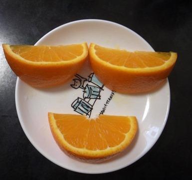 オレンジ君にやける