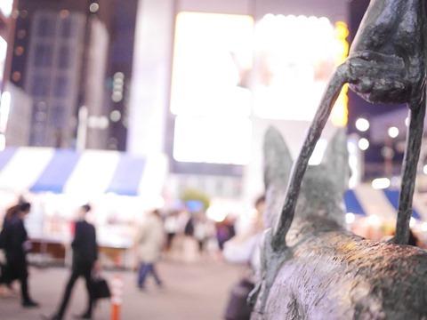 新橋SL広場の盲導犬像