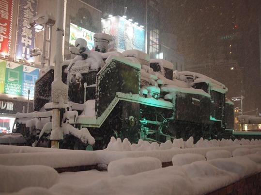 2014年の新橋SLの雪