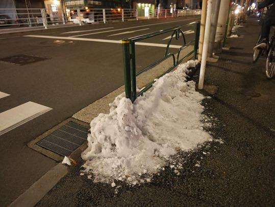2016年1月の東京の雪