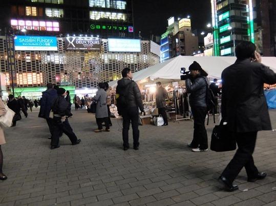 新橋SL広場撮影風景
