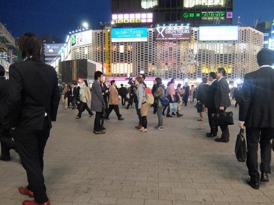 SL広場での撮影風景