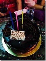 ケーキがチョコ