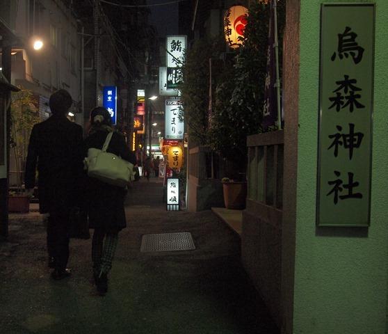 烏森神社の小道