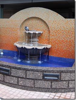 ホテルの噴水