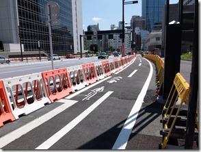 虎ノ門当たりの自転車道工事